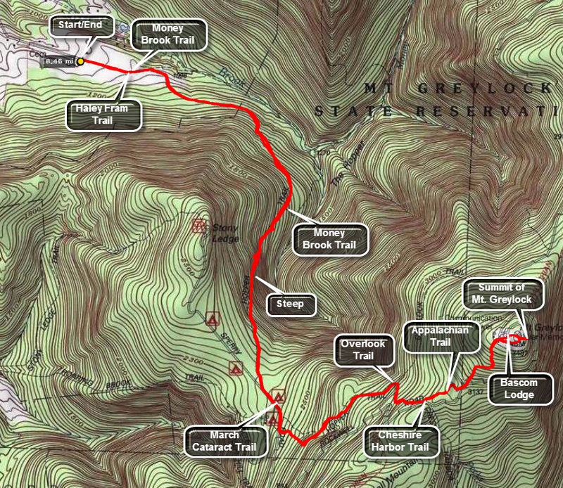 Catskill Hiker Other Trails - Appalachian trail topo map